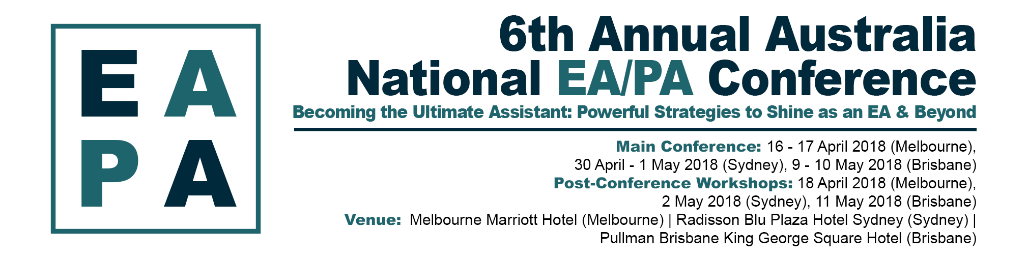 The 6th Annual Australia National EA/PA Conference